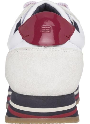 Tommy Hilfiger Kadın Retro Runner Sneakers FW0FW03690 Beyaz